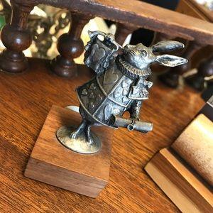 Disney Accents - Disney Alice in Wonderland White Rabbit Statue